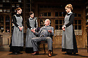 HOBSON's CHOICE, by Harold Brighouse, opens at the Vaudeville theatre in the West End. Directed by Jonathan Church, with lighting design by Tim Mitchell and set & costume design by Simon Higlett. Picture shows: Naomi Frederick (Maggie Hobson), Gabrielle Dempsey (Vicky Hobson), Martin Shaw (Henry Horatio Hobson), Florence Hall (Alice Hobson)