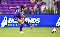 Orlando, FL - Saturday July 07, 2018: Sydney Leroux during the first half of a regular season National Women's Soccer League (NWSL) match between the Orlando Pride and the Washington Spirit at Orlando City Stadium.
