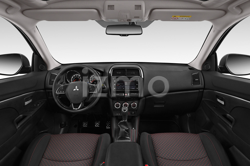 Stock photo of straight dashboard view of a 2019 Mitsubishi ASX Black Collection 5 Door SUV