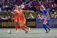 Allston, MA - Wednesday Aug. 31, 2016: Rachel Daly, Kassey Kallman during a regular season National Women's Soccer League (NWSL) match between the Boston Breakers and the Houston Dash at Jordan Field.