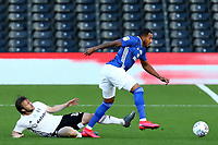 10th July 2020; Craven Cottage, London, England; English Championship Football, Fulham versus Cardiff City; Harry Arter of Fulham slide tackles Nathaniel Mendez-Laing of Cardiff City
