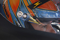 Mar 30, 2007; Martinsville, VA, USA; Nascar Nextel Cup Series driver Kevin Lepage (37) during practice for the Goody's Cool Orange 500 at Martinsville Speedway. Martinsville marks the second race for the new car of tomorrow. Mandatory Credit: Mark J. Rebilas