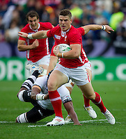 Rugby World Cup Hamilton Wales v Fiji  Pool D 02/10/2011.Scott Williams (Wales)  .Photo Mike Frey Fotosports International/AMN