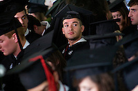 Nick Culbertson, of Dunhellen, New Jersey, waits to receive his diploma at the Quincy House ceremony during Harvard University Commencement on May 26, 2011, in Cambridge, Massachusetts, USA.<br /> <br /> Photo: M. Scott Brauer for the Star-Ledger