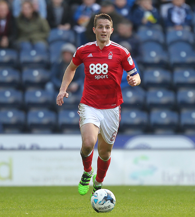 Nottingham Forest's Chris Cohen<br /> <br /> Photographer Mick Walker/CameraSport<br /> <br /> The EFL Sky Bet Championship - Preston North End v Nottingham Forest - Saturday 1st April 2017 - Deepdale - Preston<br /> <br /> World Copyright &copy; 2017 CameraSport. All rights reserved. 43 Linden Ave. Countesthorpe. Leicester. England. LE8 5PG - Tel: +44 (0) 116 277 4147 - admin@camerasport.com - www.camerasport.com