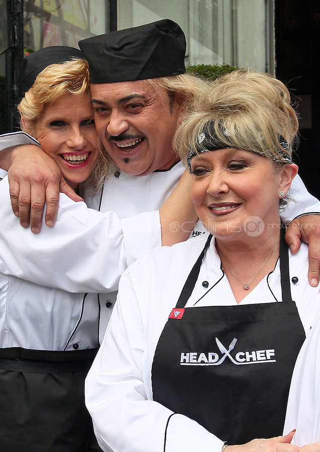 21/06/'11 Pictured outside  his  'Dining Room' Restaurant with contestants, from left, Mary Burke, Wagner, Adel King ...NO REPRODUCTION FEE PIC...Picture Colin Keegan, Collins, Dublin.