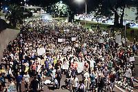 SAO PAULO, SP,22 de junho 2013-Protesto contra a PEC 37 na Av 23 de Maio sentido Ibirapuera- ADRIANO LIMA / BRAZIL PHOTO PRESS).