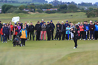 Emily Toy (ENG) on the 18th fairway during the Matchplay Semi-Final of the Women's Amateur Championship at Royal County Down Golf Club in Newcastle Co. Down on Saturday 15th June 2019.<br /> Picture:  Thos Caffrey / www.golffile.ie