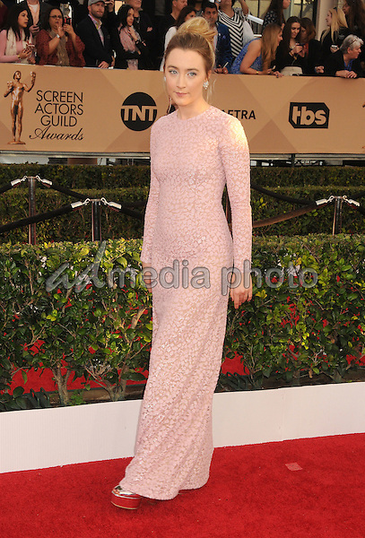 30 January 2016 - Los Angeles, California - Saoirse Ronan. 22nd Annual Screen Actors Guild Awards held at The Shrine Auditorium. Photo Credit: Byron Purvis/AdMedia