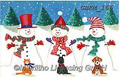 Kate, CHRISTMAS SANTA, SNOWMAN, WEIHNACHTSMÄNNER, SCHNEEMÄNNER, PAPÁ NOEL, MUÑECOS DE NIEVE, paintings+++++Christmas page 52,GBKM166,#x#