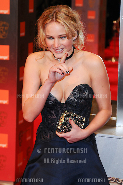 Jennifer Lawrence arriving for the BAFTA Film Awards 2011 at the Royal Opera House Covent Garden, London. 13/02/2011  Picture by: Steve Vas / Featureflash