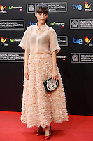 Letizia Dolera poses for photographers the red carpet before of Closing Ceremony of the 62st San Sebastian Film Festival in San Sebastian, Spain. September 27, 2014. (ALTERPHOTOS/Caro Marin) /NortePHOTO.com /nortephoto.com