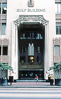 Houston: Gulf Building. Entrance--Art Deco. Photo '80.