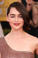 LOS ANGELES, CA - JANUARY 18: Emilia Clarke at the 20th Annual Screen Actors Guild Awards held at The Shrine Auditorium on January 18, 2014 in Los Angeles, California. (Photo by Xavier Collin/Celebrity Monitor)