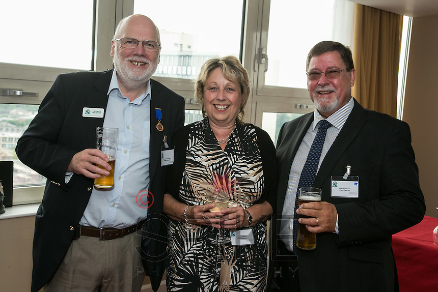 Pictured from left are Steve Potts of Andante, Elaine Martin of Martin Properties and Graham Gibson of Cloud Cars