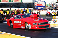 May 31, 2013; Englishtown, NJ, USA: NHRA pro stock driver Lewis Worden during qualifying for the Summer Nationals at Raceway Park. Mandatory Credit: Mark J. Rebilas-