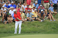 Martin Kaymer (GER) chips onto the 7th green during Thursday's Round 1 of the 2014 PGA Championship held at the Valhalla Club, Louisville, Kentucky.: Picture Eoin Clarke, www.golffile.ie: 7th August 2014