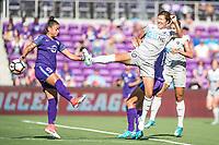 Orlando, FL - Sunday May 14, 2017: Camila, Yuri Kawamura during a regular season National Women's Soccer League (NWSL) match between the Orlando Pride and the North Carolina Courage at Orlando City Stadium.
