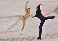 USA's Alexa Scimeca and Chris Knierim give a figure skating pair performance in the Gangneung Ice Arena at the Winter Olympics in Pyeongchang, South Korea, 9 February 2018. Photo: Peter Kneffel/dpa /MediaPunch ***FOR USA ONLY***