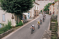 team SKY / yellow jersey / Geraint Thomas (GBR/SKY) rolling through town<br /> <br /> Stage 15: Millau &gt; Carcassonne (181km)<br /> <br /> 105th Tour de France 2018<br /> &copy;kramon