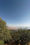 The Golan Heights. View south from  Mount Betarim, the location of the covenant between the pieces