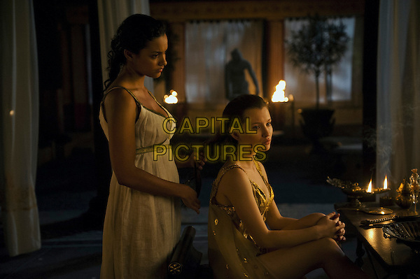 Jessica Lucas, Emily Browning<br /> in Pompeii (2014) <br /> *Filmstill - Editorial Use Only*<br /> CAP/FB<br /> Image supplied by Capital Pictures