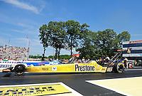 Jun. 3, 2012; Englishtown, NJ, USA: NHRA top fuel dragster driver Spencer Massey during the Supernationals at Raceway Park. Mandatory Credit: Mark J. Rebilas-