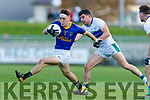Mikey Geaney Dingle in action against Paudie Clifford East Kerry in the Semi Final of the Kerry Senior Football Championship between Dingle and East Kerry at Austin Stack Park on Sunday.