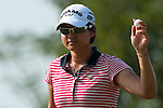 CHON BURI, THAILAND - FEBRUARY 20:  Yani Tseng of Taiwan acknowledges to the crowd on the 13th green during day four of the LPGA Thailand at Siam Country Club on February 20, 2011 in Chon Buri, Thailand. Photo by Victor Fraile / The Power of Sport Images