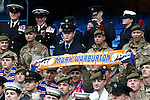 Members of HM Armed Forces meet Rangers manager Mark Warburton at Ibrox today