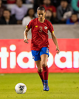 HOUSTON, TX - FEBRUARY 03: Maria Coto #3 of Costa Rica advances the ball during a game between Costa Rica and USWNT at BBVA Stadium on February 03, 2020 in Houston, Texas.