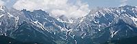 Limestone mountain peaks of Steinernes Meer (stone sea) range, Austria