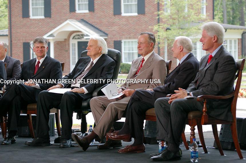 Billy Graham Bill Clinton George Bush<br /> Jimmy Carter By Jonathan Green