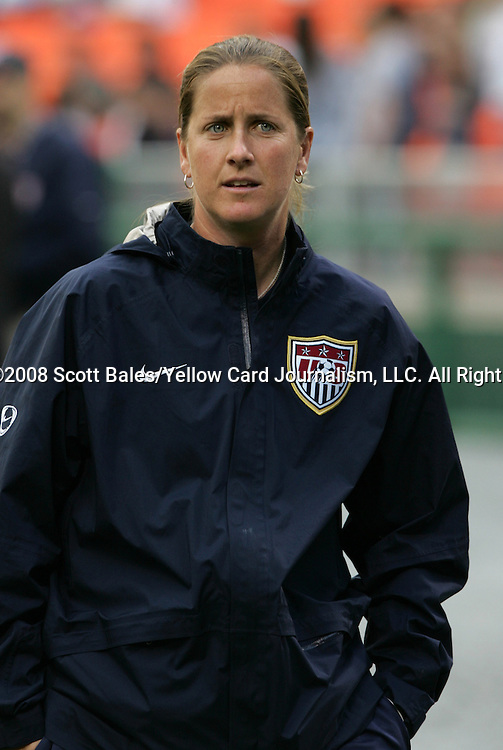 10 May 2008: United States assistant coach Erica Walsh. The United States Women's National Team defeated the Canada Women's National Team 6-0 at RFK Stadium in Washington, DC in a women's international friendly soccer match.
