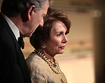 Paul & Nancy Pelosi arriving for the 34th Kennedy Center Honors Presentation at Kennedy Center in Washington, D.C. on December 4, 2011