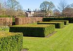 Garden designed by Piet Oudolf at Scampston Hall, Yorkshire, England, UK - Spring Box Garden