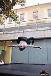 LABORINTUS..conception et réalisation François Raffinot ..interprétation Jean-Michel Fête, Anja Hempel, Frank Picart, Audrey Yvars ..sons Ana Dall'Ara-Majek ..images Yan Philippe régie..décors Patrick Bastien..Compagnie :..Lieu: Mediatheque d'Uzes..Ville : Uzes..Festival Uzes Danse 2011..le 17/06/2011..© Laurent Paillier / photosdedanse.com..All rights reserved