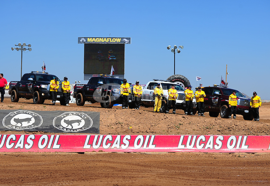 Apr 17, 2011; Surprise, AZ USA; LOORRS safety team toyota pace truck support vehicle during round 4 at Speedworld Off Road Park. Mandatory Credit: Mark J. Rebilas-