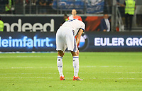 Jonas Martin (Racing Club de Strasbourg Alsace) enttäuscht - 29.08.2019: Eintracht Frankfurt vs. Racing Straßburg, UEFA Europa League, Qualifikation, Commerzbank Arena<br /> DISCLAIMER: DFL regulations prohibit any use of photographs as image sequences and/or quasi-video.
