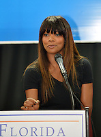 MIAMI, FL - NOVEMBER 02: Gabrielle Union speaks and participates during a student voter kickoff Drive on November 2, 2012 in Miami, Florida. © MPI10/MediaPunch Inc /NortePhoto .<br />
