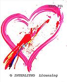 Marie, MODERN, MODERNO, paintings+++++,USJO201,#N# Joan Marie abstract heart