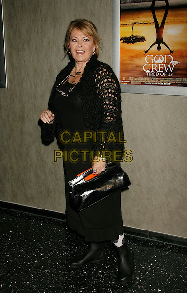 "ROSEANNE BARR.""God Grew Tired of Us"" Los Angeles Premiere held at The Pacific Design Center, West Los Angeles, California, USA..January 8th, 2007.full length black purse bag dress skirt top knitted crochet .CAP/ADM/RE.©Russ Elliot/AdMedia/Capital Pictures"