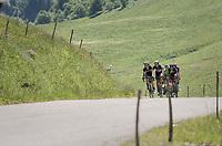 descending the Col de la Colombière<br /> <br /> 69th Critérium du Dauphiné 2017<br /> Stage 8: Albertville > Plateau de Solaison (115km)