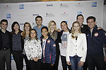 Josh Farris, Miria Nagasu, Ashley Wagner, Ryan Bradley, Gracie Gold, Jason Brown, Jeremy Abbott, Nathan Bartholomay - Front Sharon Cohen, Felicia Zhang, Polina Edmunds at Skating with the Stars - a benefit gala for Figure Skating in Harlem in its 17th year is celebrated with many US, World and Olympic Skaters honoring Michelle Kwan and Jeff Treedy on April 7, 2014 at Trump Rink, Central Park, New York City, New York. (Photo by Sue Coflin/Max Photos)