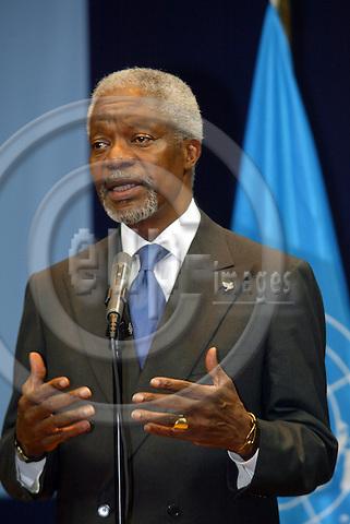 Belgium---Brussels--- Council---Vip corner       28.01.2004.Kofi ANAN, Secretary-General of the United Nations        .PHOTO: EUP-IMAGES / ANNA-MARIA ROMANELLI