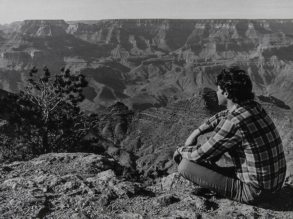 From my black and white archives: First trip to the Grand Canyon in the 1980s. It was January and I slept in my car, right at the rim - arrive late and leave early. Like I said, I never cared for campgrounds.<br />