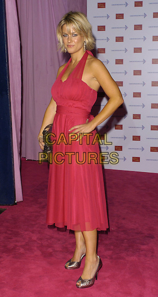 GEORGINA BOUZOVA.Attends A Touch Of Pink Party,.madame tussards, London.England, October 5th 2006..full length pink halterneck dress hand on hip.Ref: CAN.www.capitalpictures.com.sales@capitalpictures.com.©Can Nguyen/Capital Pictures