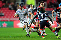 Paul Grant of Bath Rugby goes on the attack. European Rugby Challenge Cup match, between Bristol Rugby and Bath Rugby on January 13, 2017 at Ashton Gate Stadium in Bristol, England. Photo by: Patrick Khachfe / Onside Images