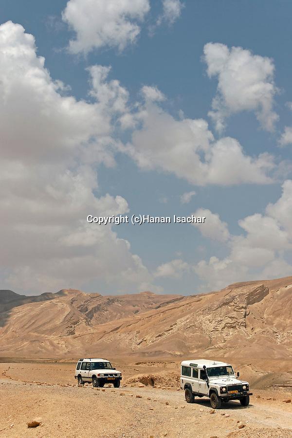 Israel, the Negev desert. The road to Wadi Akrabim and Wadi Zin