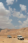 Israel, the Negev desert. The road to Wadi Akrabim and Wadi Zin